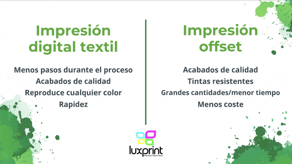 impresión digital textil impresión offset