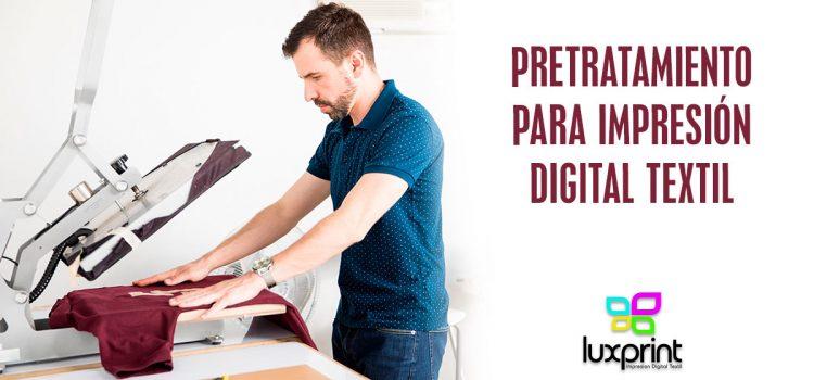 Pretratamiento para impresión digital textil