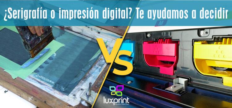 ¿Serigrafía o impresión digital? Te ayudamos a decidir
